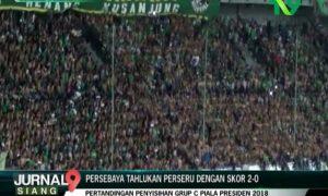 Persebaya Tahlukan Perseru Dengan Skor 2-0