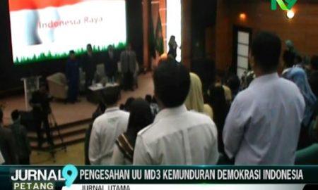 Pengesahan UU MD3 Kemunduran Demokrasi Indonesia