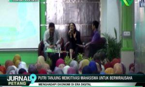 Putri Tanjung Memotivasi Mahasiswa Untuk Berwirausaha