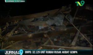 bnpb rilis unit rumah rusak akibat gempa
