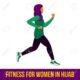 Muslim aerobic icons. Full color